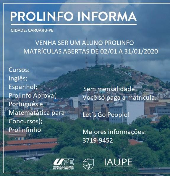 Prolinfo está com matrículas abertas para cursos de lìnguas em Caruaru