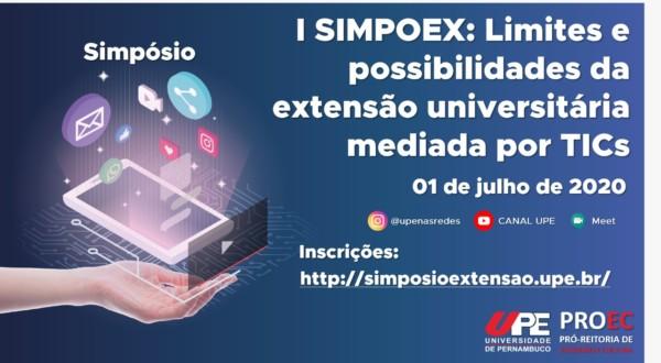 1º Simpoex:  limites e possibilidades para extensão universitária mediada por TICs