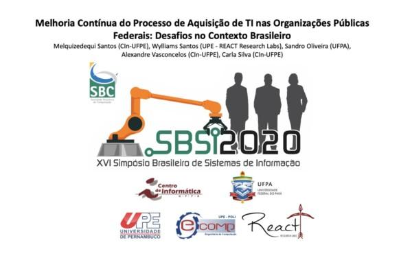 Pesquisadores da UFPE, UFPA, UPE e IF SERTÃO-PE publicam artigo no Simpósio Brasileiro de Sistemas de Informação