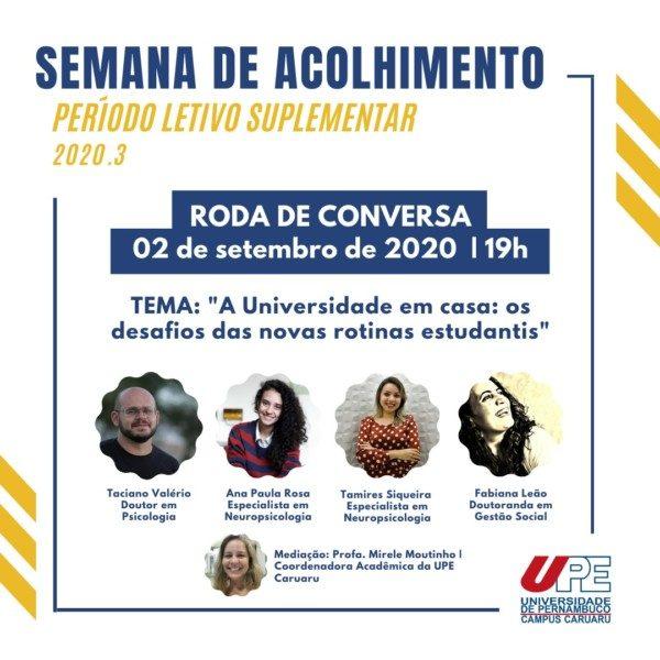 SEMANA DE ACOLHIMENTO DA UPE CARUARU