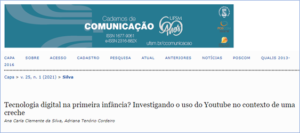 Ex-aluna e Professora do curso de Administração da UPE Caruaru publicam artigo na revista Cadernos de Comunicação